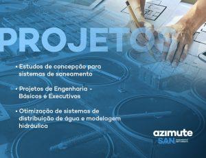 Expertise em Projetos voltados ao setor de Saneamento